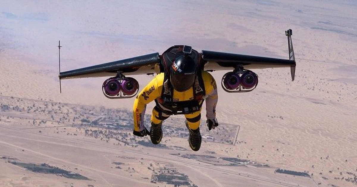Yves Rossy, inventor of a series of experimental individual jet packs