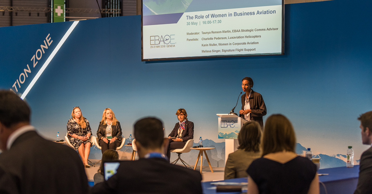 At EBACE2018: Expanding the Role of Women in Business Aviation